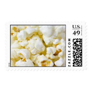 Popcorn Background Postage Stamps