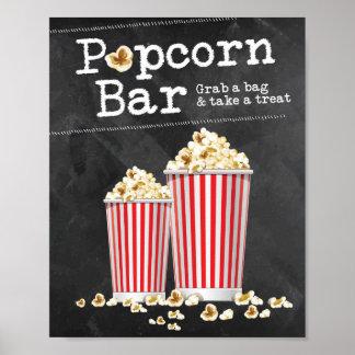 Popcorn Bar Sign Poster