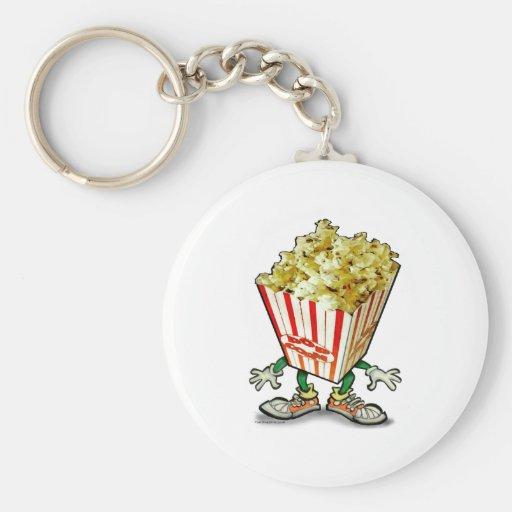 Popcorn Basic Round Button Keychain