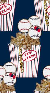 Popcorn Bb Cookie Bouquet Blue Baseball Gift Bag L Large