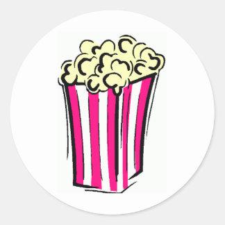 Popcorn Box Classic Round Sticker