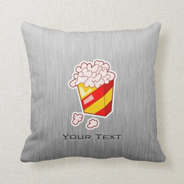 Popcorn; Brushed metal-look Pillows