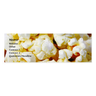 Popcorn Double-Sided Mini Business Cards (Pack Of 20)