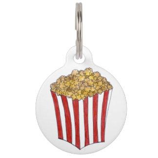Popcorn Caramel Pop Corn Foodie Pet Dog Tag