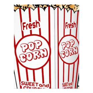 popcorn corn snack food movie night fun letterhead