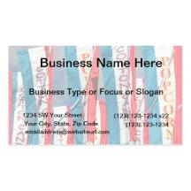 Popcorn Cotton Candy Fair Flags Business Card