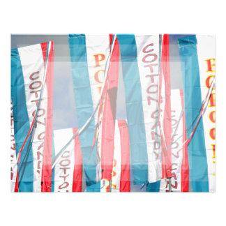 Popcorn Cotton Candy Fair Flags Letterhead