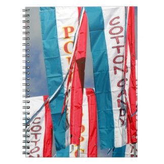 Popcorn Cotton Candy Fair Flags Spiral Note Books