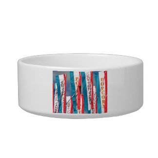 Popcorn Cotton Candy Fair Flags Cat Water Bowl