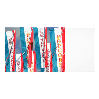 Popcorn Cotton Candy Fair Flags Photo Greeting Card