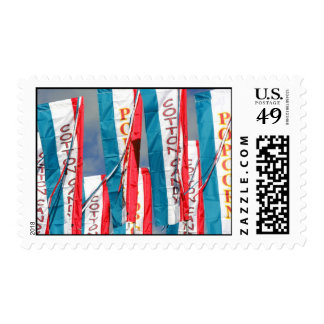 Popcorn Cotton Candy Fair Flags Postage