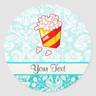 Popcorn; Cute Classic Round Sticker