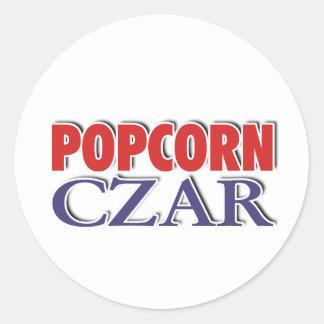 Popcorn Czar Classic Round Sticker