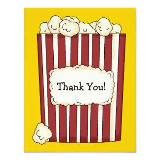 Popcorn Flat Thank You Card
