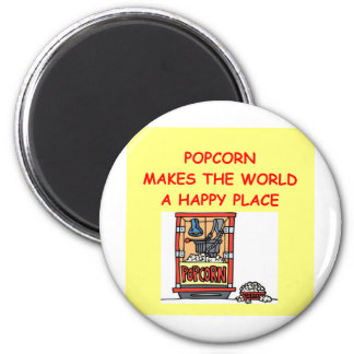 popcorn fridge magnet