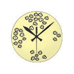 Popcorn Friends Wall Clocks