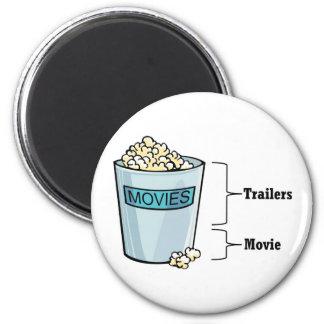 Popcorn Full Refrigerator Magnet