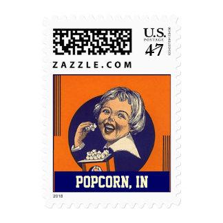 Popcorn IN promotion girl vintage colorful Stamps