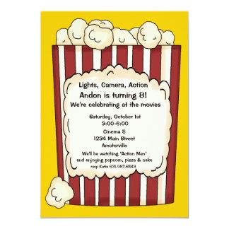 """Popcorn Invitation 5"""" X 7"""" Invitation Card"""