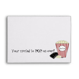 Popcorn Invitation Envelope