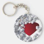 Popcorn Lover Collection Basic Round Button Keychain
