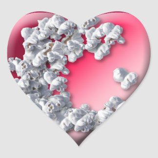Popcorn Lover Collection Heart Sticker
