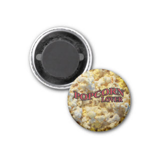 Popcorn Lover Gifts and Apparel 1 Inch Round Magnet