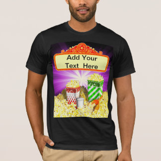 Popcorn Lovers Movie Marquee T-Shirt