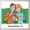 Popcorn Lovers Poster print