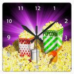 Popcorn Lovers Wall Clock