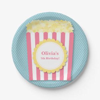 Popcorn Movie Night Birthday Party Supplies Paper Plate