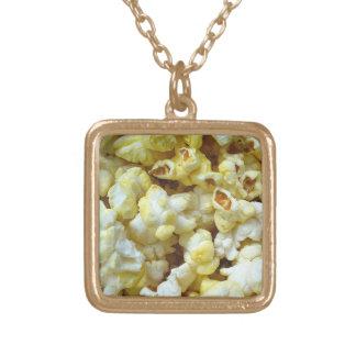 Popcorn Nacklace 0001 Square Pendant Necklace