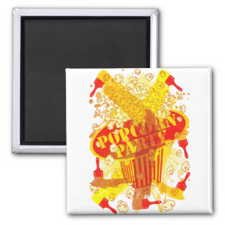 POPCORN_PARTY 2 INCH SQUARE MAGNET