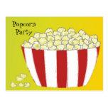 Popcorn Party Invitation Post Card