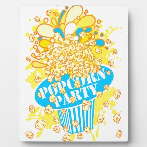 POPCORN_PARTY PLACA DE MADERA