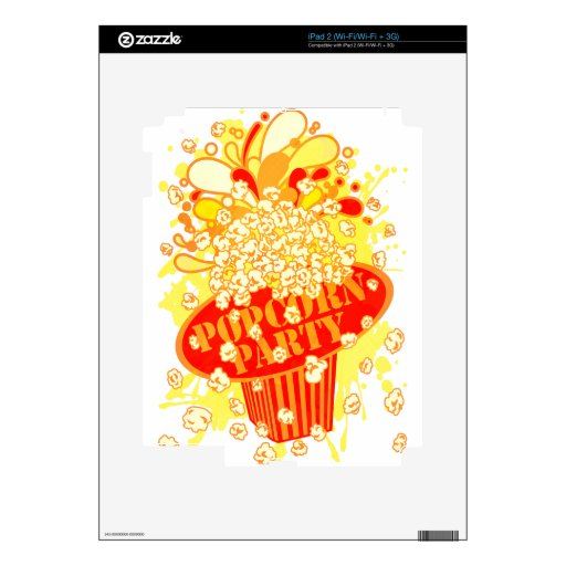 POPCORN_PARTY SKIN FOR iPad 2