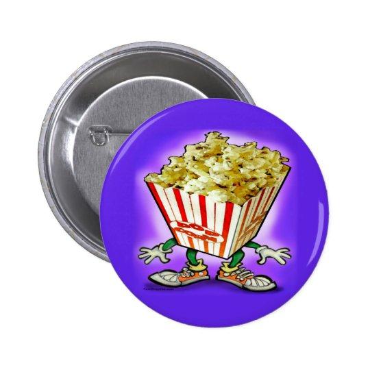 Popcorn Pinback Button