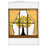 Popcorn Popping on the Apricot Tree Greeting Card