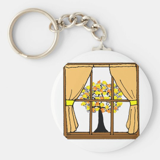Popcorn Popping on the Apricot Tree Keychain