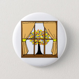 Popcorn Popping on the Apricot Tree Pinback Button
