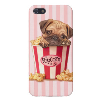 Popcorn Pug Case For iPhone SE/5/5s