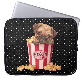 Popcorn Pug Computer Sleeve