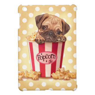 Popcorn pug cover for the iPad mini