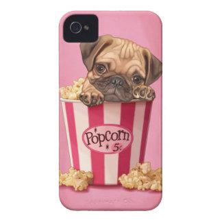 Popcorn Pug iPhone 4 Case