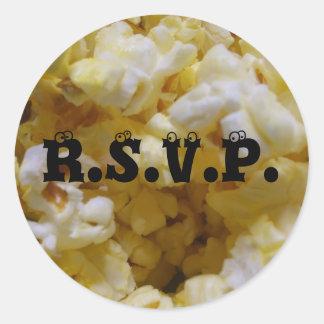 Popcorn RSVP Classic Round Sticker