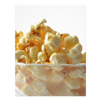 popcorn snack food movie night letterhead