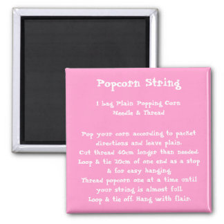 Popcorn String Recipe Magnet color