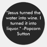 Popcorn Sutton Classic Round Sticker