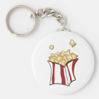 Popcorn T-shirts and Gifts Basic Round Button Keychain