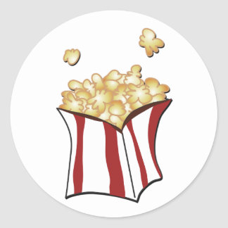 Popcorn T-shirts and Gifts Classic Round Sticker